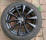 Alu kola Borbet + zimní gumy Dunlop
