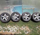 Prodám Alu kola Brock R15 s pneu