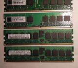 Paměti DDR2: 2x512MB, 2x1GB