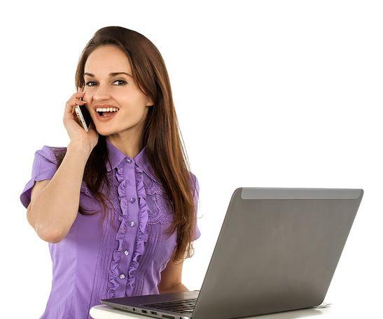 Telefonní operátorka možno z domova