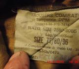 Anglické vojenské kalhoty